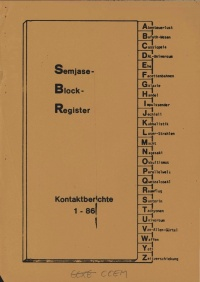 Semjase-Block Register, Kontaktberichte 1-86 (70 pgs, 1982) Cover.jpg